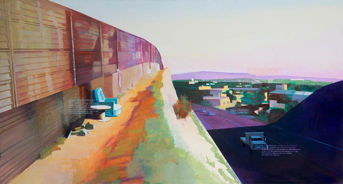 Ákos Birkás, Identiity, 140x260cm, oil on canvas, 2011