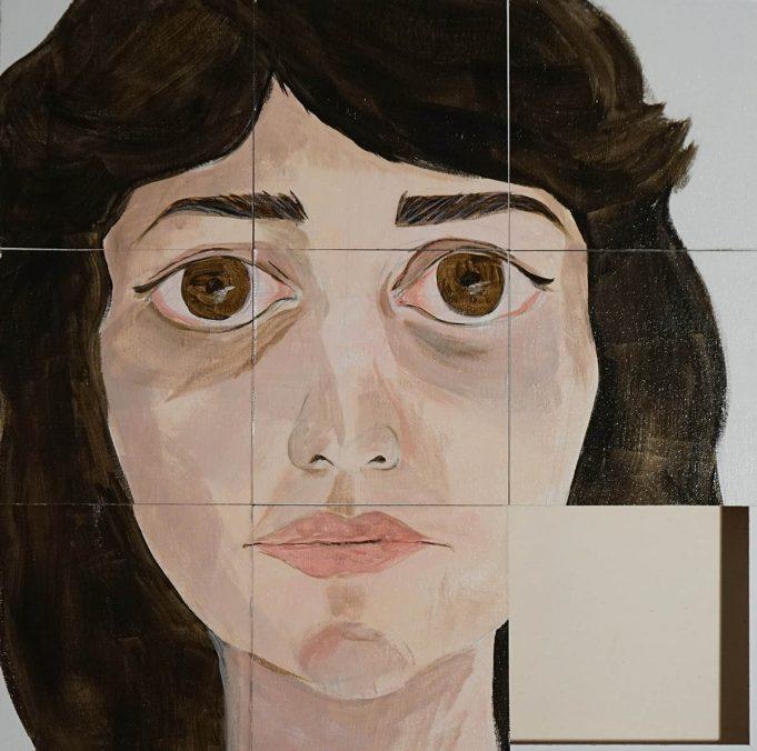 faces I 50x50cm Acryl auf leinwand- Slidepuzzle