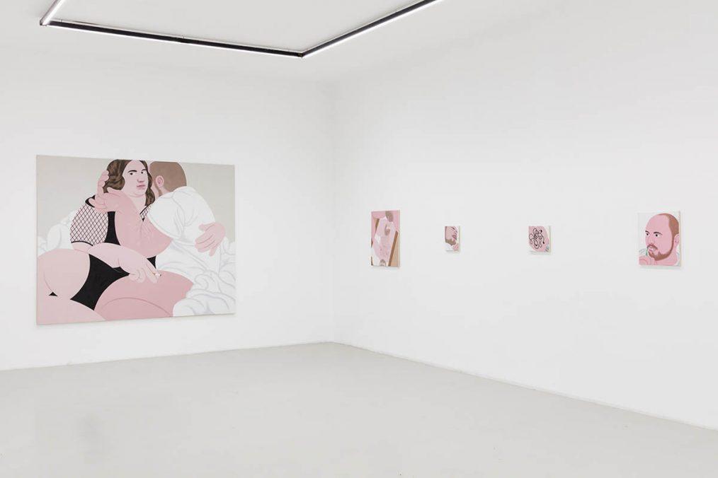 Installation view: Alexander Basil, Galerie Kandlhofer, 2021