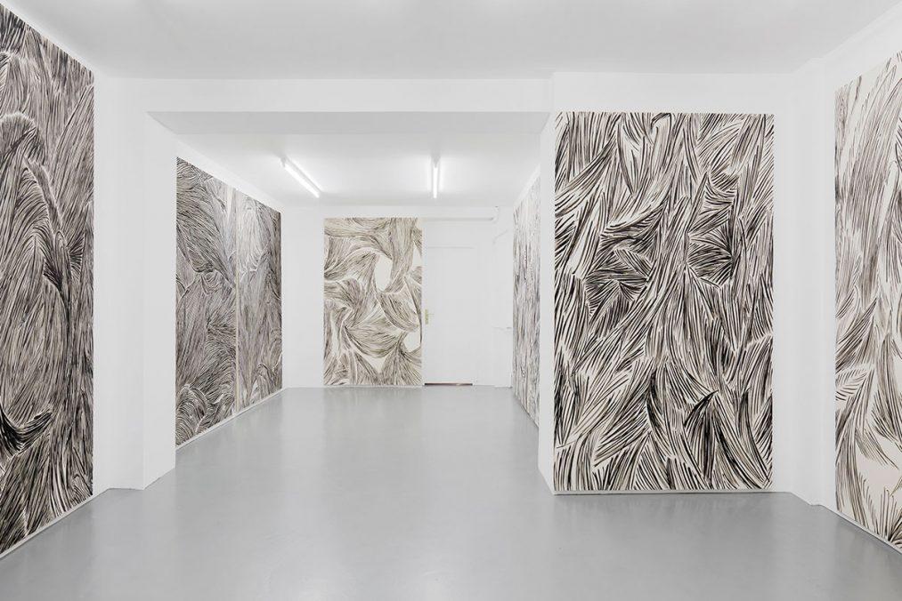 Piotr Makowski, Pogonologia, 2017, Installation view. Photo: Aurélien Mole.