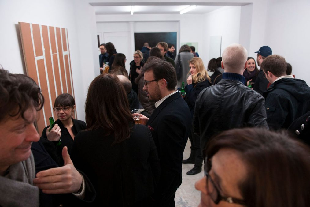 Opening of exhibition Outs by Olve Sande, 2013. Photo: Courtesy of Yann Revol & Ciaccia Levi