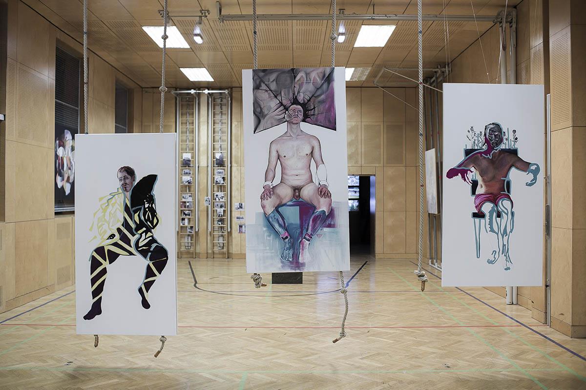 Ausstellung: nosportsjustart. Foto: Claudio Farkasch