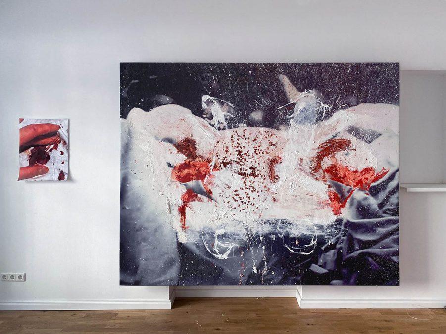 """""""You're gonna die"""", installation view, 2021, Stallmann, Berlin. Courtesy of the artist and Stallmann, Berlin."""