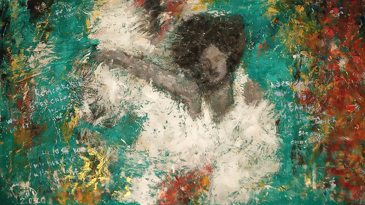 Daniel Wille, In the river of life, Mixed media, 56x98cm, 2020