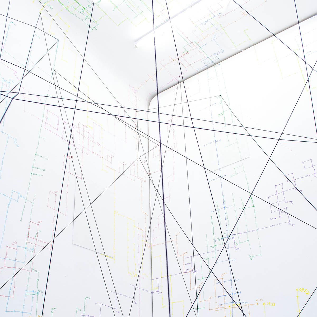 Die Verzeichnung der Zeit, Whitedwarf Projects, Wien, 2018 (Foto: Darja Shatalova)