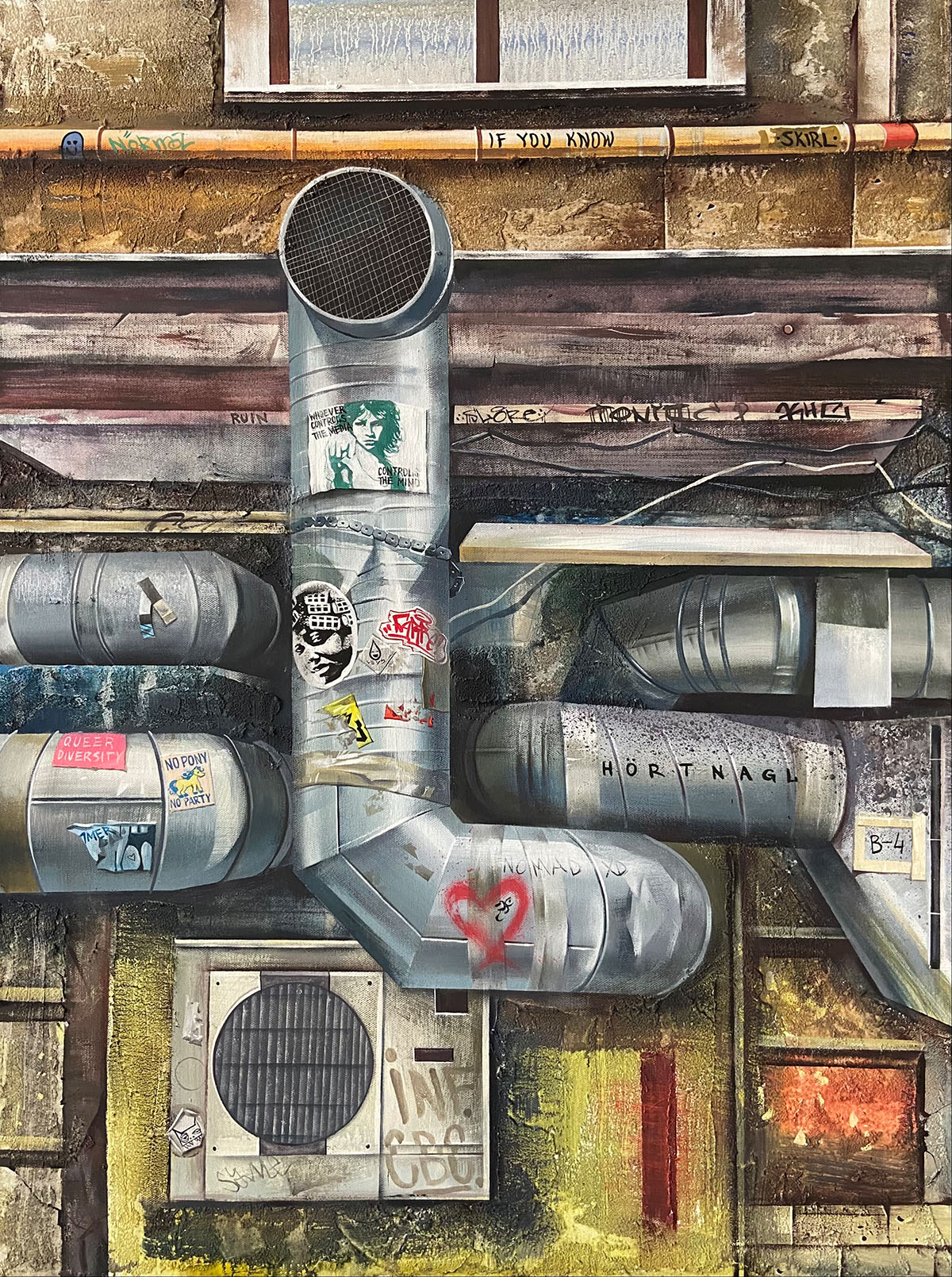 Communication series, acrylic on canvas, 80x60cm, 2021