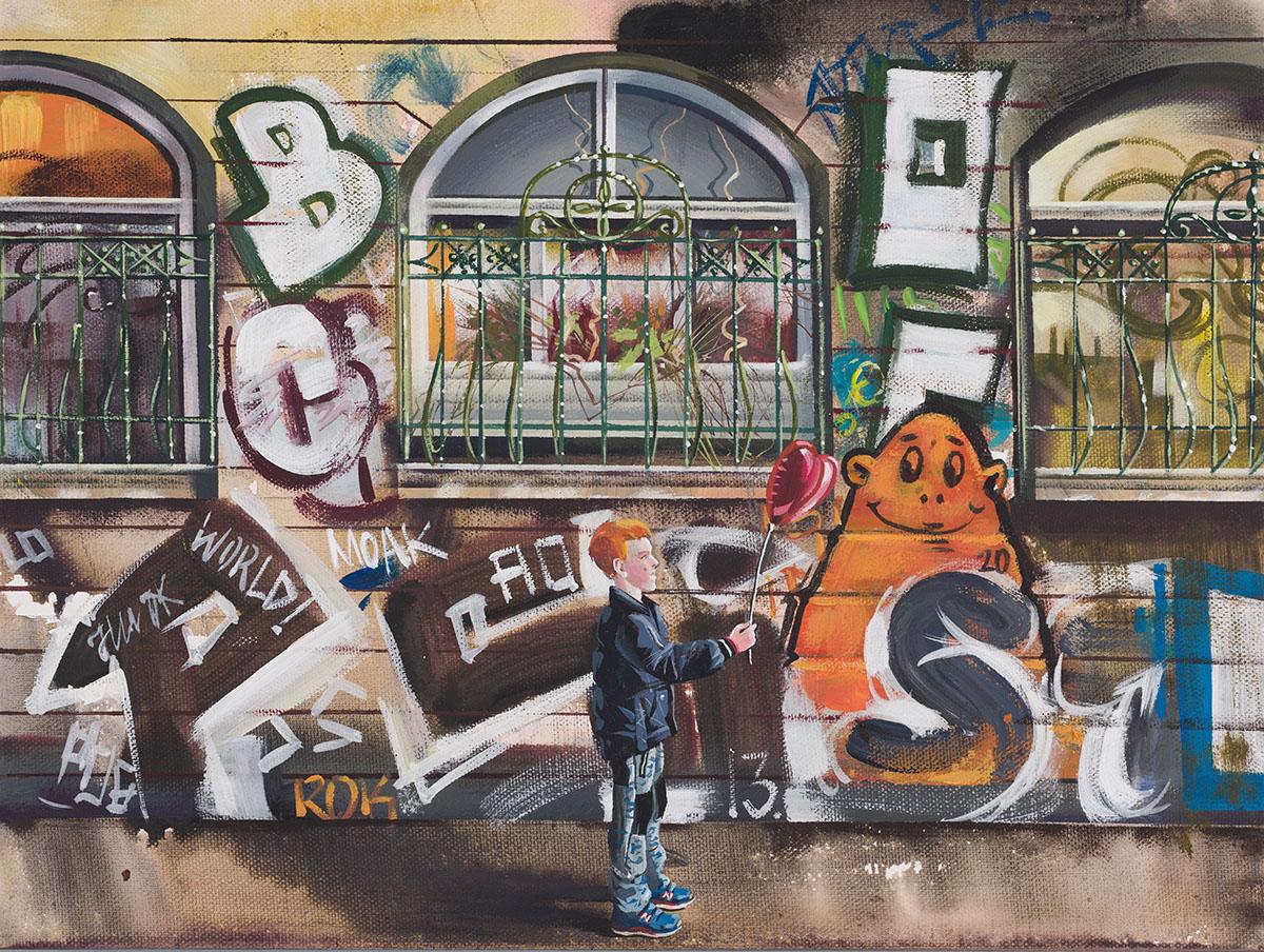 Urban Vienna Series. Piper's Ballroom, acrylic on canvas, 70x50cm, 2020