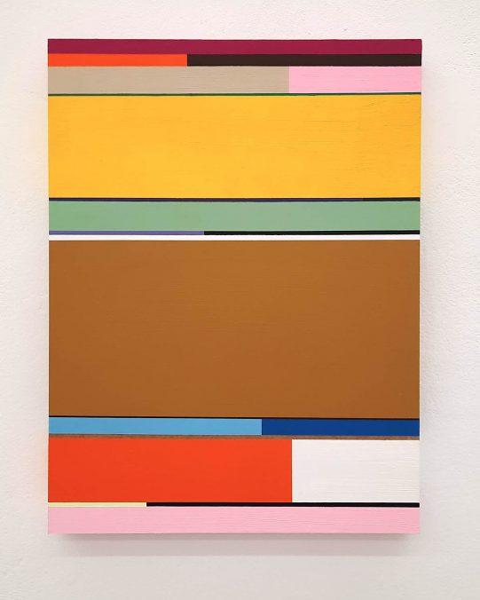 Florian Nährer, New Order 3, 2020. Acryl auf Holz, 40x30 cm