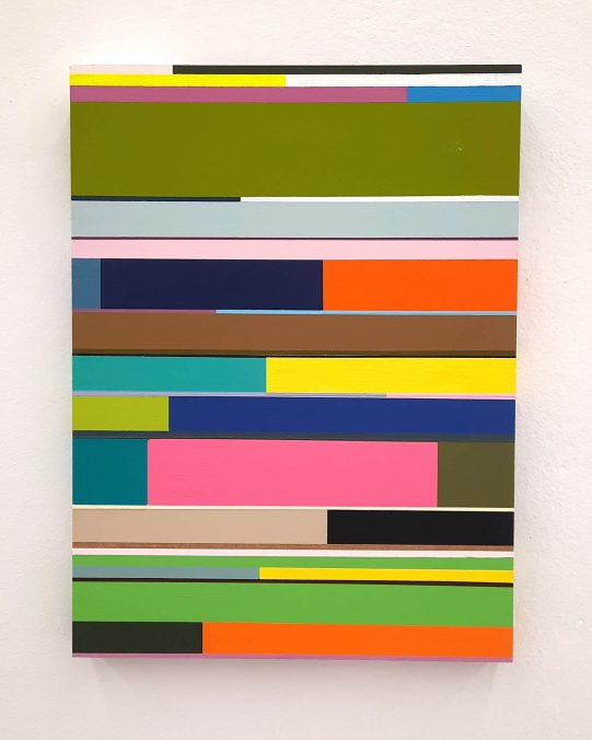 Florian Nährer, New Order 4, 2020. Acryl auf Holz, 40x30 cm