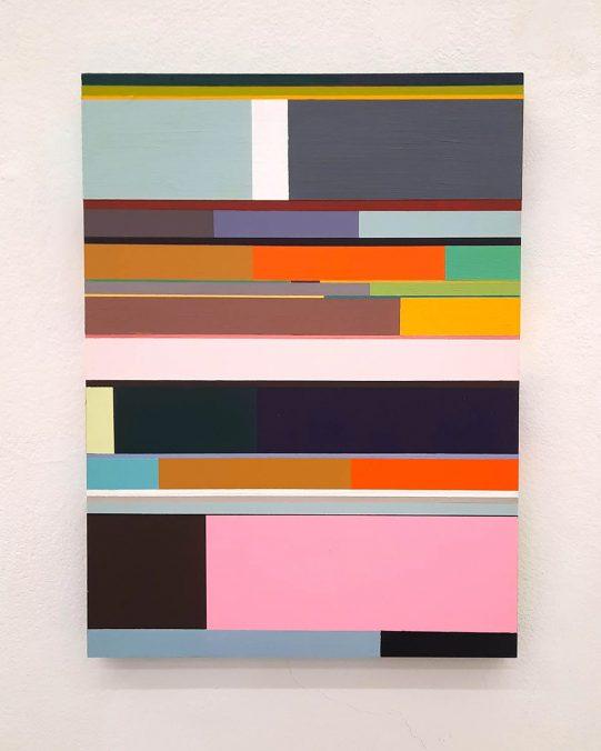 Florian Nährer, New Order 5, 2020. Acryl auf Holz, 40x30 cm