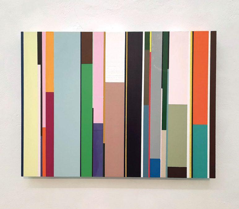 Florian Nährer, New Order 1, 2020. Acryl auf Holz, 40x30 cm