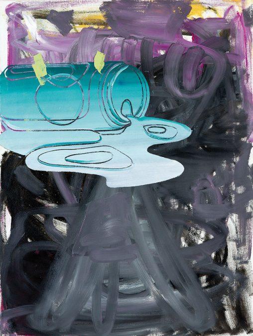 Georg Frauenschuh. ohne Titel (can), 2019, Öl/Lw., 73 x 55 cm