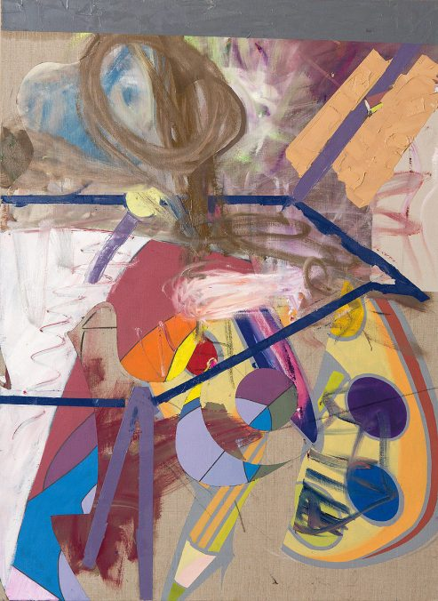 Georg Frauenschuh. ohne Titel (palette), 2019, Öl/Lw., 135 x 100 cm