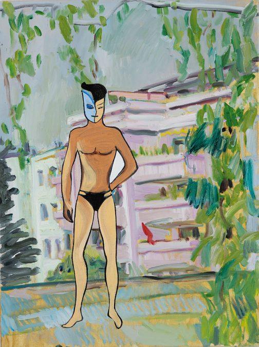 Georg Frauenschuh. ohne Titel (view), 2019, Öl/ Lw., 73 x 55 cm