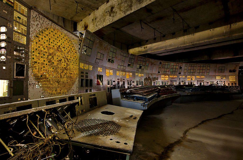 Der Kontrollraum von Reaktor #4 in dem der folgenschwere Fehler passierte.