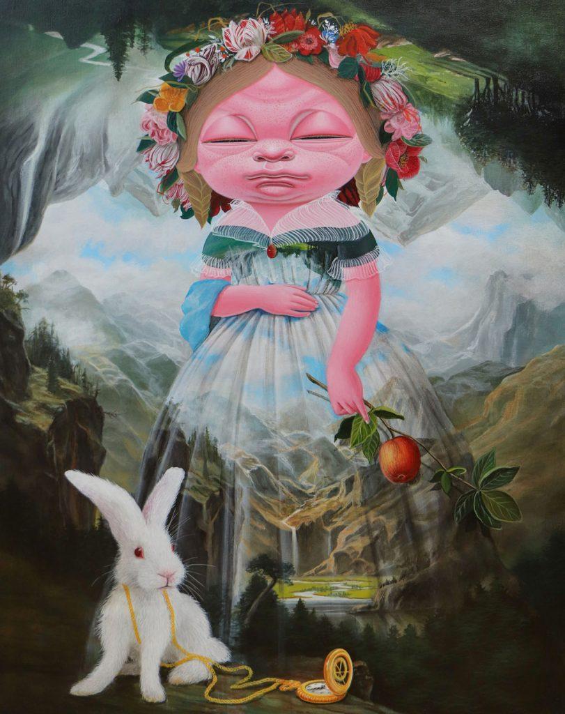 A Journey into the World, 90.9x72.7cm, Acrylic on Canvas, 2020