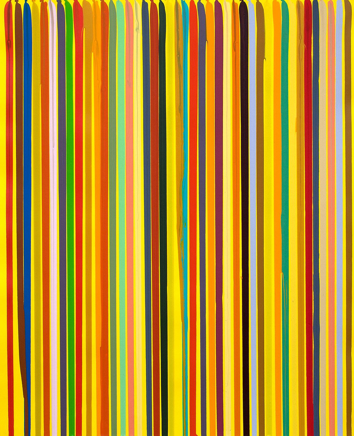 Ian Davenport, Summer, aus der Serie Four Seasons, 2020, Radierung, 115 x 113, Ed. von 30