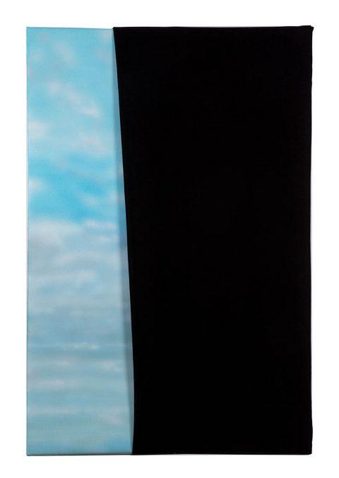 Sofia Cruz Rocha @sofia.cruz.rocha Sky II, 2021 Acrylic and velvet on linen