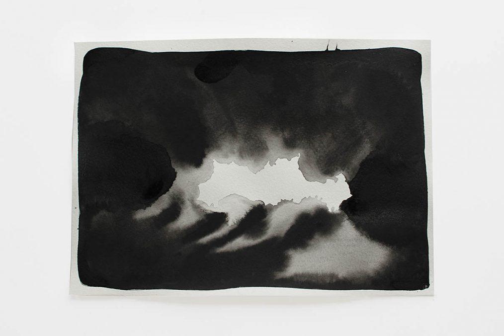 Guadalupe Aldrete @guadalupe_aldrete_lala_nomada There, somewhere, 2020-2021 Black Watercolour on 300gr Cotton Paper