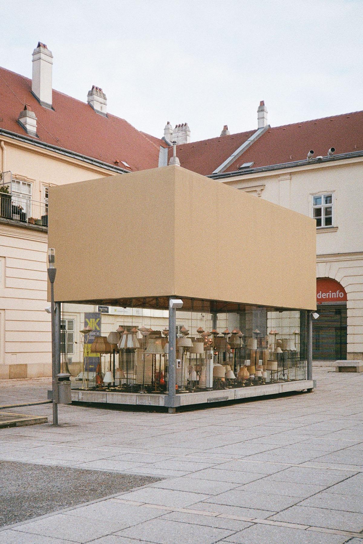 Installation LUMEN von Johannes Rass, Februar 2021. Foto: Daniel Lichterwaldt