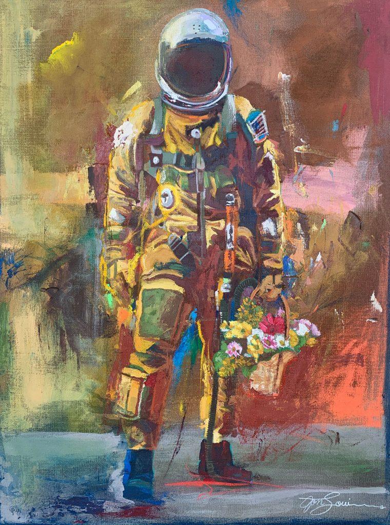 jonlouis art studio interview nasa painting