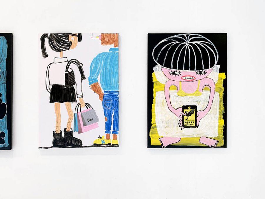 "Ausstellungsansicht ""forever YOUNG"" in der Uxval Gochez Galerie, Barcelona"