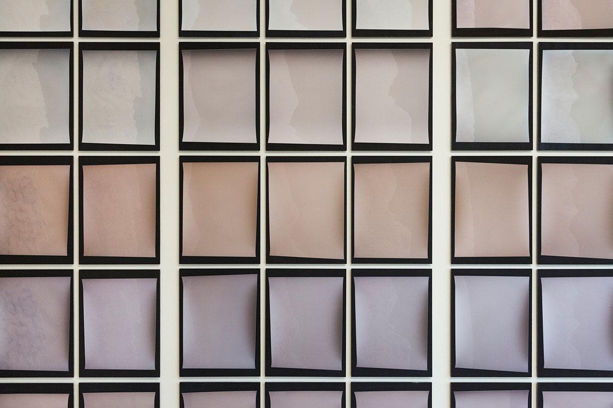 Schattenbelichtungen, Fotogramme, Pigmentdruck, Detailansicht, 72 Stk. 26 x 34,5 cm, 2018-2020