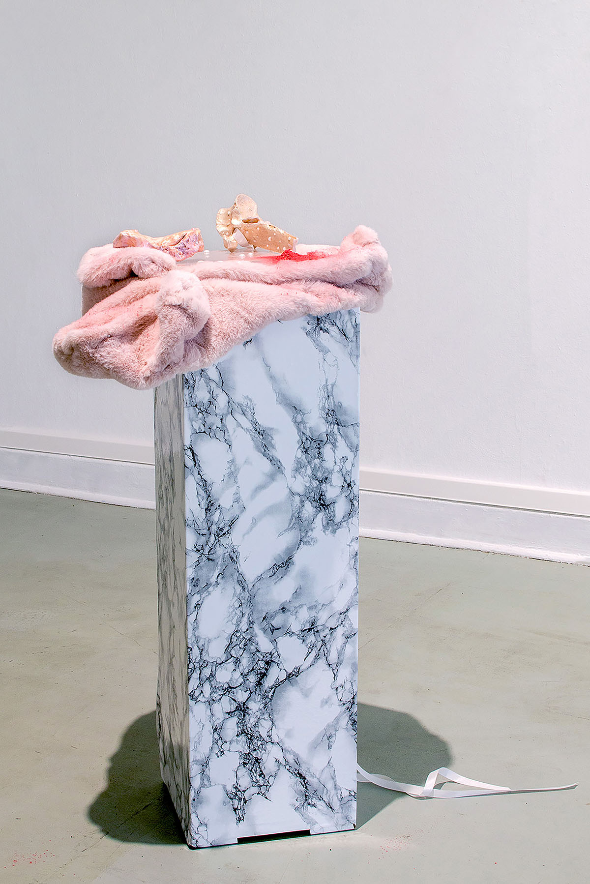 intentional and assured mortality, mixed media installation, 90cm x 30cm 32cm, 2021