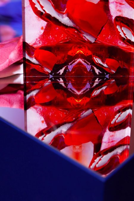 Let the Bloodless, digital collage on acrylic, 20cm x 15cm 2.5cm, 2021