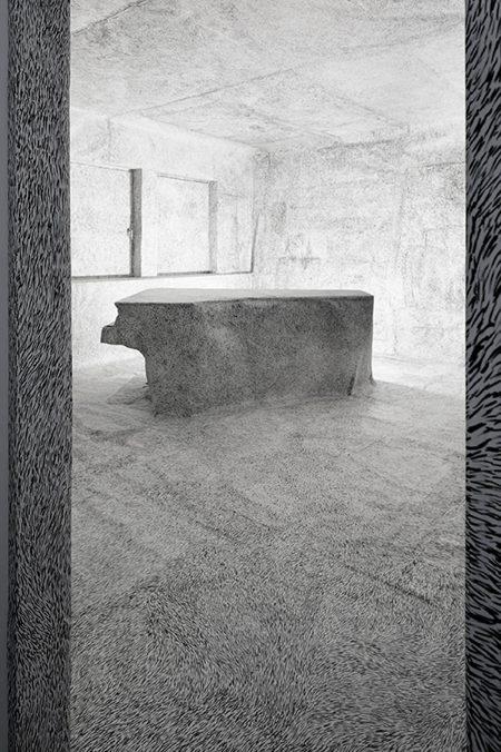 Linda Berger, Strichraum IIII, 2021 | Whiskey Room at Elektrohalle Rhomberg | Photo: Rudolf Strobl