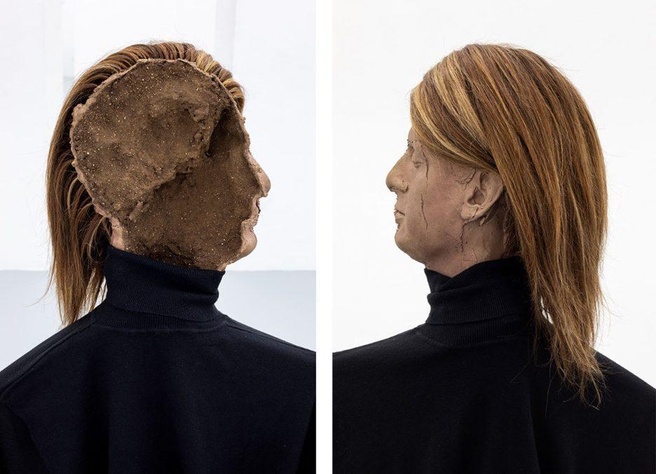 Luca Francesconi, Infertilità, 2021, bronze, aluminium, resin, clothes, human hairs, cm 75 x 40 x 30 / cm 110 x 120 x 100, ph. Danilo Donzelli (detail)