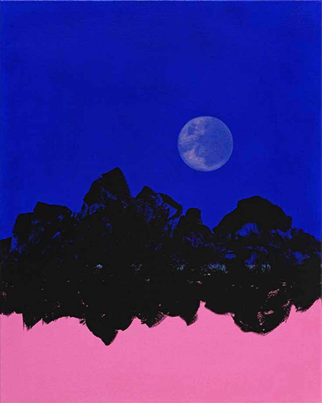 Bertram Hasenauer, Untitled, 2020, Acryl und Lack auf Leinwand, 50 x 40 cm  Installationsansichten Courtesy Galerie Sophia Vonier