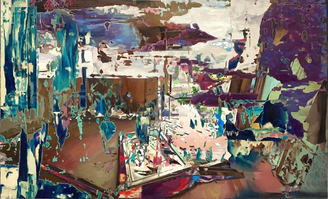 room 8, Light, oil on cancas, 80x134,2020