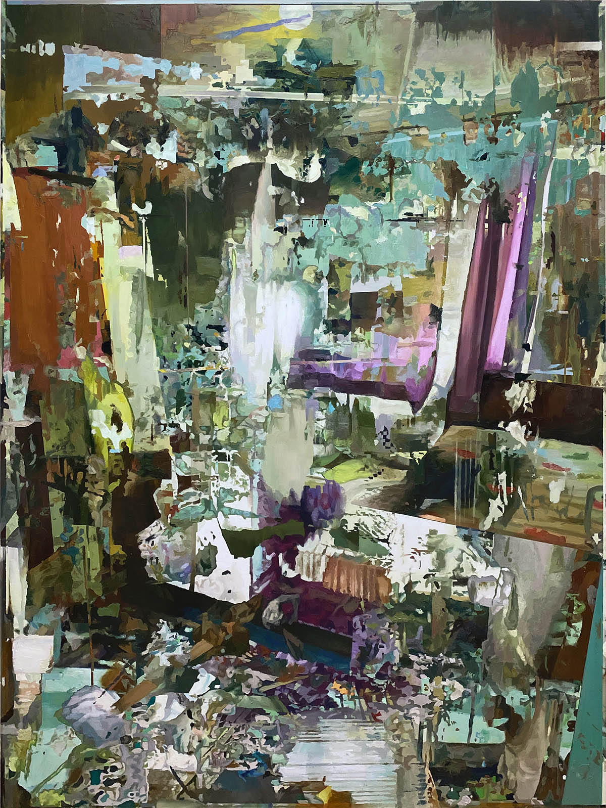 room 12. Curtain. 200x150. oil on canvas. 2021