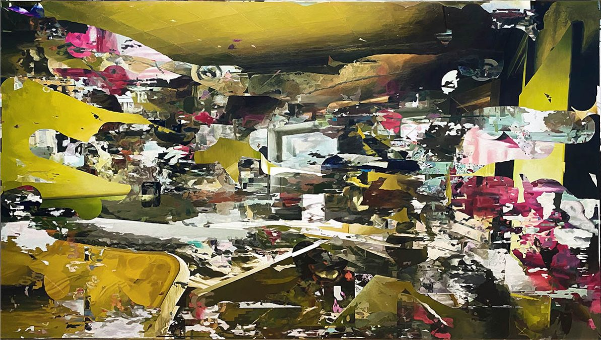 room 14. Yellow room. 170x300. oil on canvas. 2021
