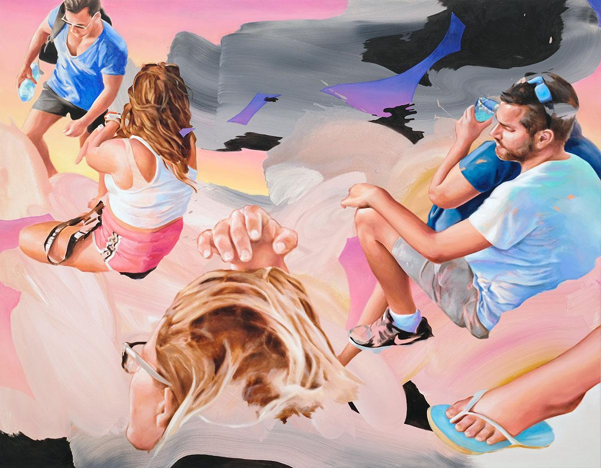 Ferne Nähe, 2021, Öl auf Leinwand, 140 x 180 cm