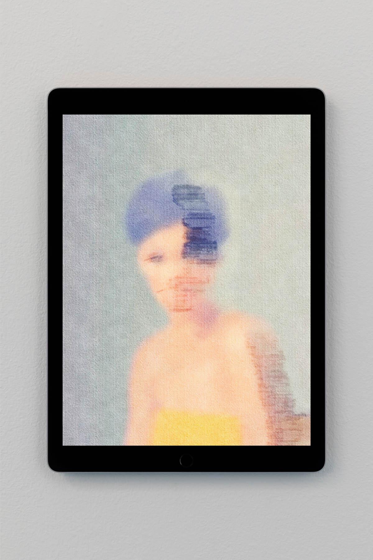 Riccardo Benassi, Scarecrows, Shown On Apple iPad Pro, 2017. Apple iPad Pro, slideshow 25.1 x 17.4 x 0.6 cm. Photo: Roberto Marossi, Courtesy: artist & ZERO. Milano installation view, Massimo Grimaldi, Scarecrows, ZERO..., Milan. Section: Established Contemporary