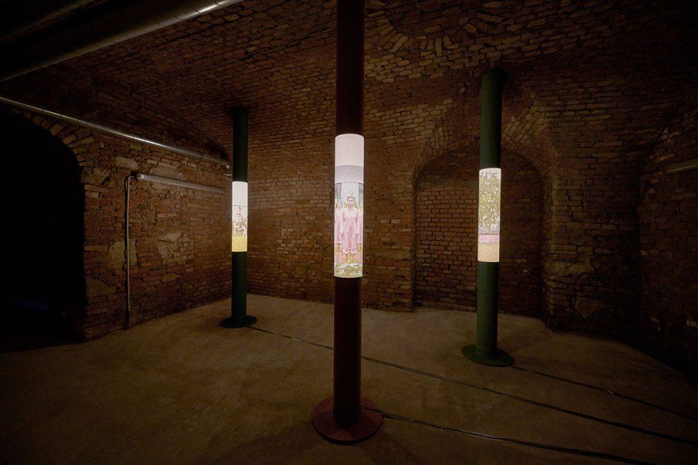 Anny Wass - Three Pillars Installation, 2020