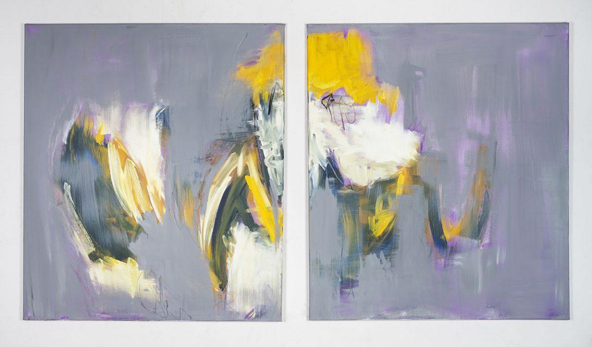 Monika Herschberger, Purple in love, Acryl auf Leinwand, Format: 2 x 70 x 80 cm/2020