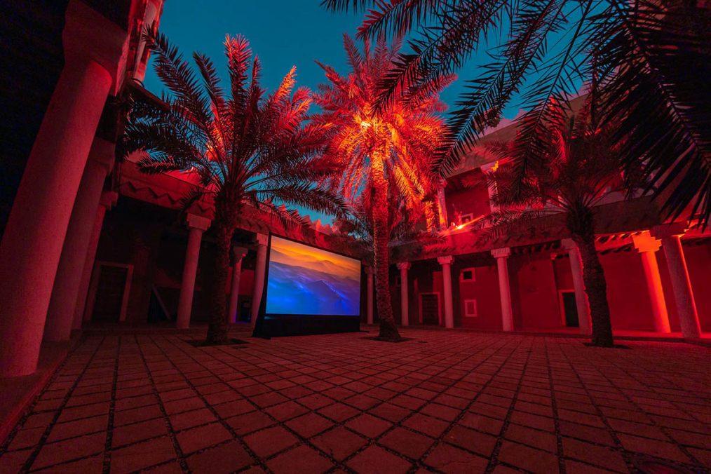 Ayman Zedani Earthseed, 2021 3-channel video installation Dimensions variable Courtesy the artist Photo © Riyadh Art (1)