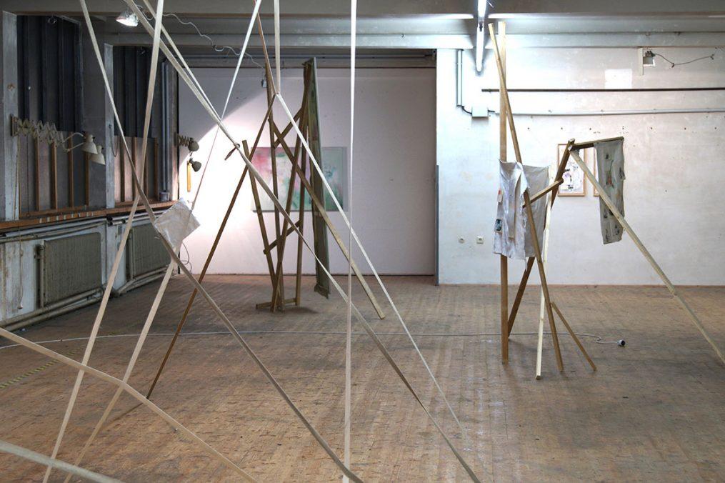 """Philipp Renda. """"erst wenn alles fertig ist"""", 2017, Galerie die Schöne, Vienna Exhibition view."""