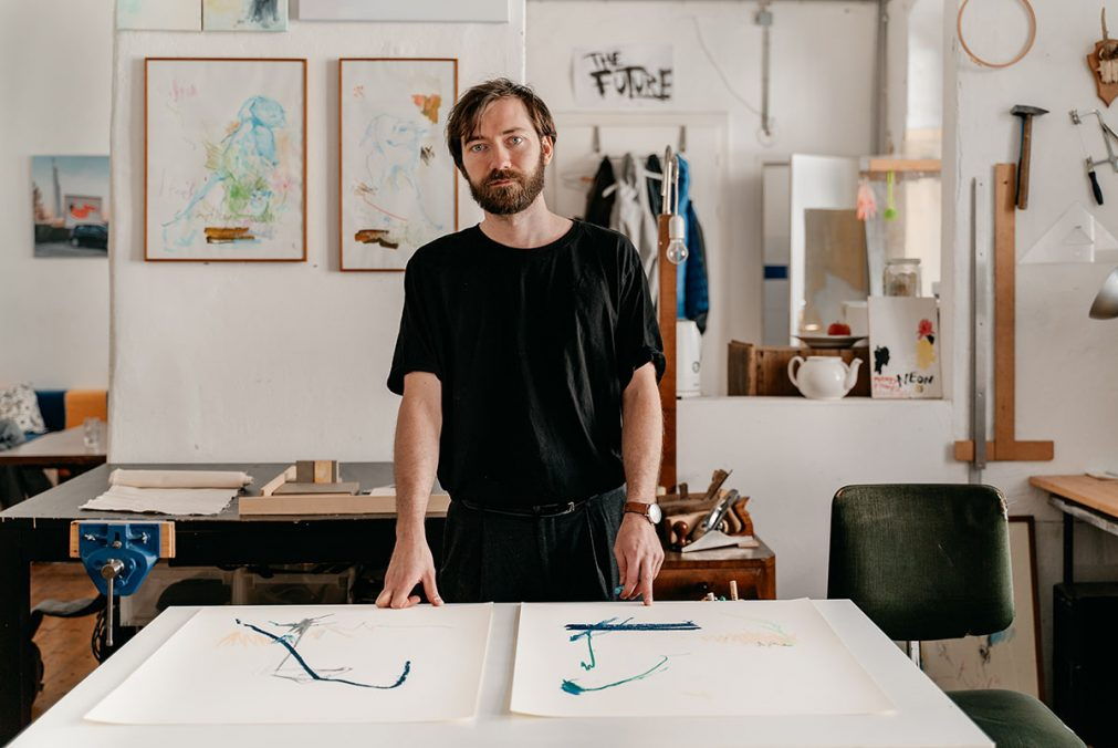 "Philipp Renda in his Atelier ""The Future"". Photo: Christian Prinz"