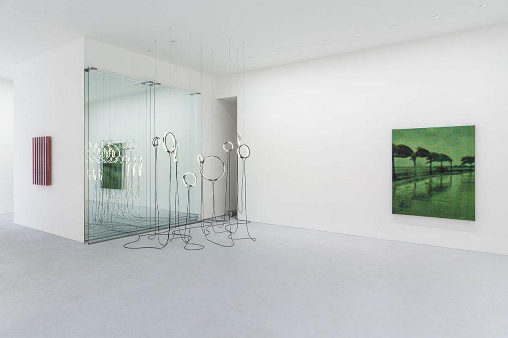 Installation view | poetics of reality (encoded) | brigitte kowanz and troika | Photo: Dirk Tacke