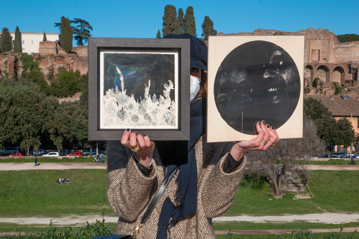 Robert Pettena and Marco Mazzoni exhibited in during the third Polka in Rome