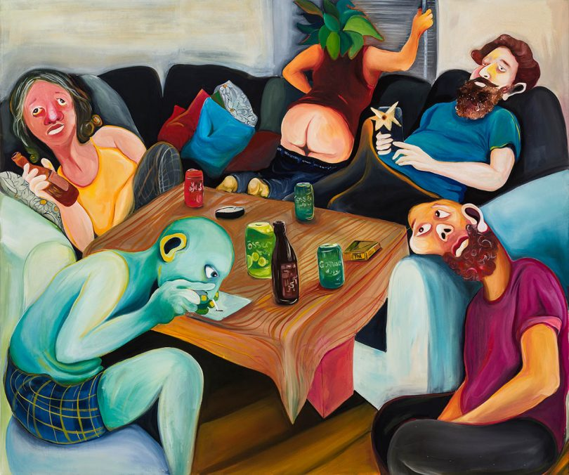 Reihaneh Hosseini Party part 1 Oil on canvas 134x153 cm 2020