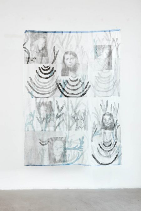 Karina MENDRECZKY_31. Király Street (wall hangings)_2021, etching, relief printing, photo transfer, Japanese paper, embroidery, 154x208cm.