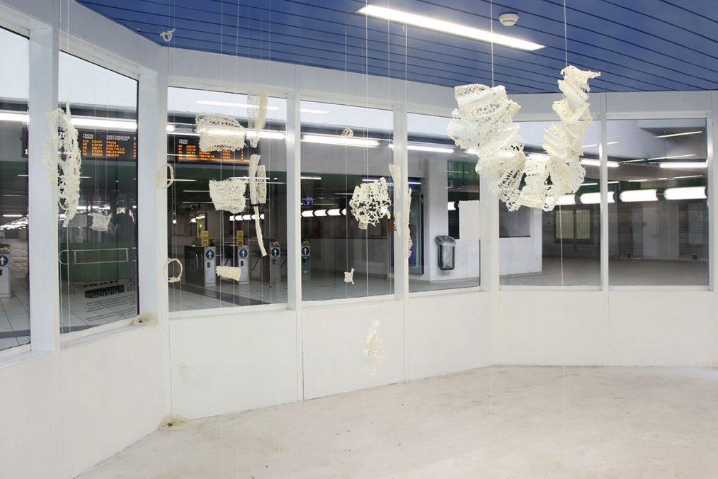 Giulia Costanza Lanza, L'uomo è l'unico animale in grado di arrossire, 2020, Exhibition view