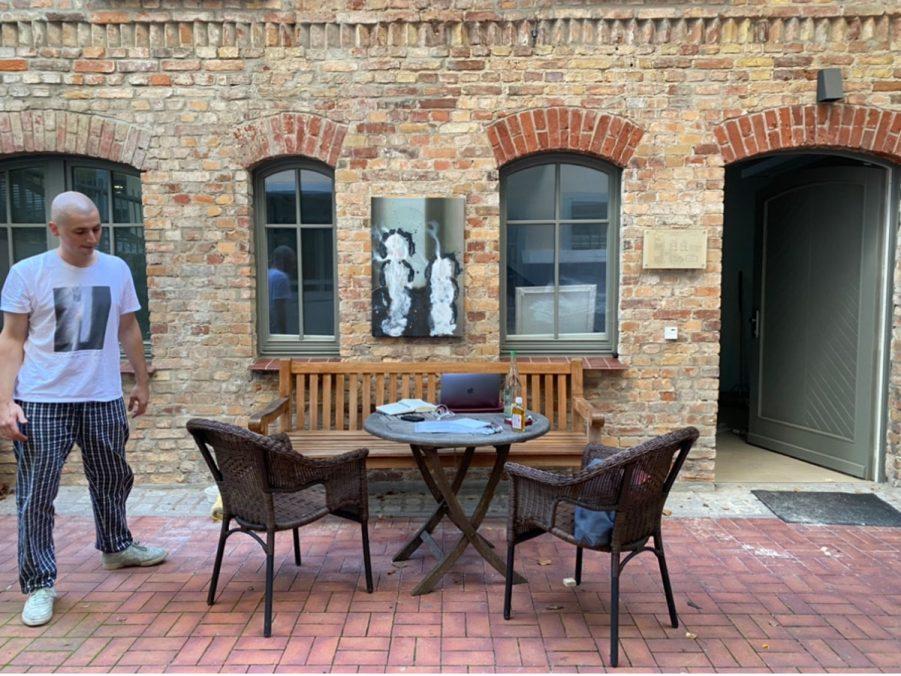 Views from Stallmann's Gallery Backyard.