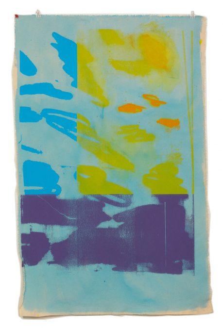 Krakelserie, Pigment und Siebdruck auf Leinen, 100cmx160cm, 2021