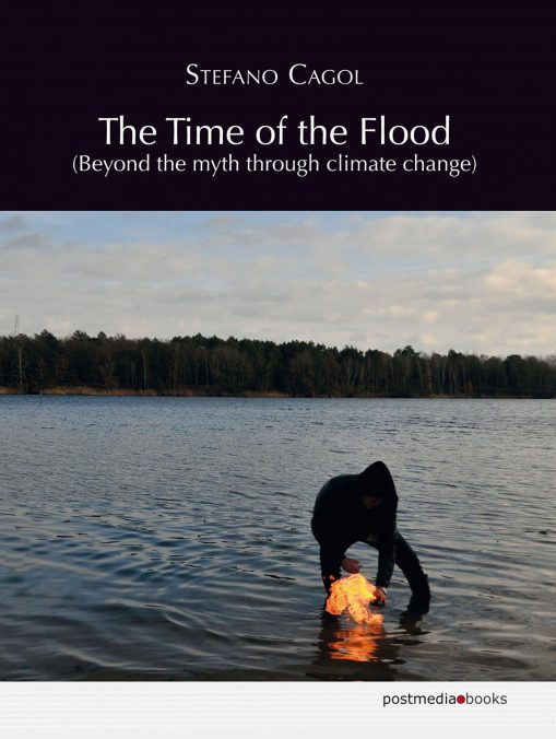 """Stefano Cagol, The Time of the Flood (Beyond the myth through climate change). Photo: """"Antagonismus (the time of the flood)"""", 2020, performance, aerosol hairspray, lighter."""